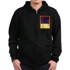 rothko-orange box with purple & yellow Zip Hoodie