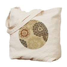 Art Deco Abstract Floral Sienna Tote Bag