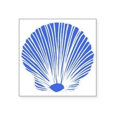 Blue Sea Shell Sticker
