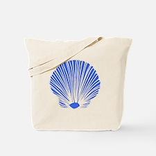 Blue Sea Shell Tote Bag