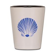 Blue Sea Shell Shot Glass