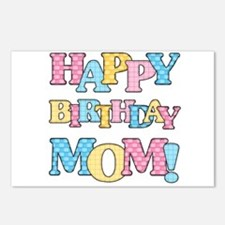 Happy Birthday Mom Postcards (Package of 8)