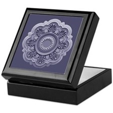 Art Nouveau Medallion Lavender Keepsake Box