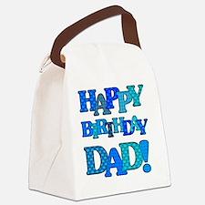 Happy Birthday Dad Canvas Lunch Bag