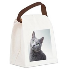 russian blue cat Canvas Lunch Bag