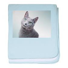 russian blue cat baby blanket