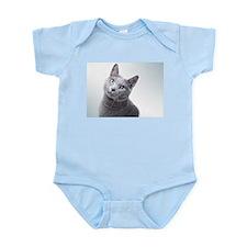 russian blue cat Body Suit