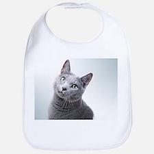 russian blue cat Bib