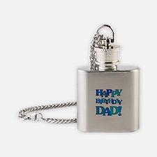 Happy Birthday Dad Flask Necklace