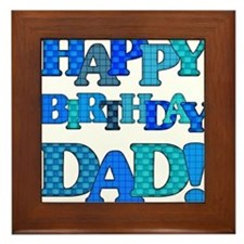 Happy Birthday Dad Framed Tile