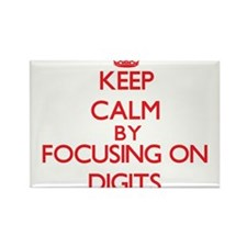 Keep Calm by focusing on Digits Magnets
