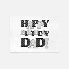 Happy Birthday Dad 5'x7'Area Rug