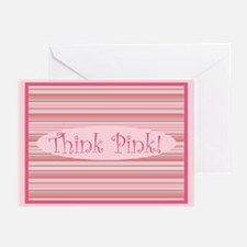 Pinstripes Think Pink Greeting Cards (10 Pk)