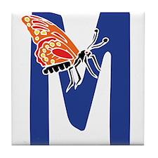 Bug Letter M Tile Coaster