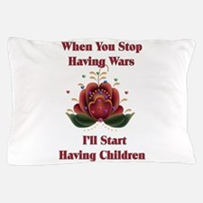 Child-Free Pacifist Pillow Case