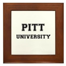 PITT UNIVERSITY Framed Tile