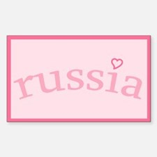 """""""Russia with Heart"""" Rectangle Decal"""