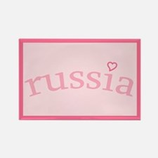 """""""Russia with Heart"""" Rectangle Magnet"""