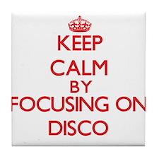Keep Calm by focusing on Disco Tile Coaster