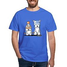 KiniArt Winter Westies T-Shirt
