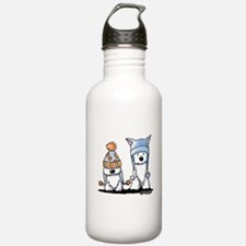 KiniArt Winter Westies Water Bottle