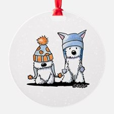 KiniArt Winter Westies Ornament
