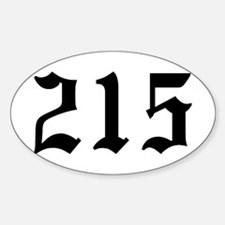 """215"" Oval Decal"