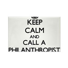 Keep calm and call a Philanthropist Magnets