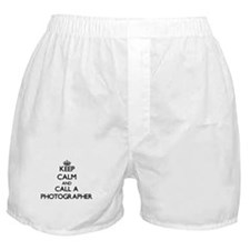 Keep calm and call a Photographer Boxer Shorts