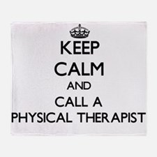 Keep calm and call a Physical Therap Throw Blanket