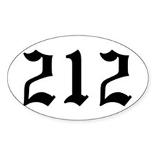 """""""212"""" Oval Decal"""