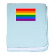 Gay Pride Flag baby blanket