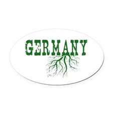 Germany Roots Oval Car Magnet