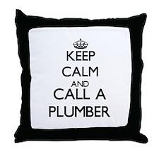 Keep calm and call a Plumber Throw Pillow