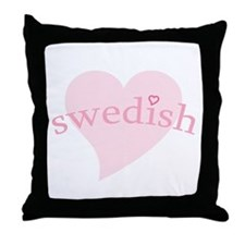 """""""Swedish with Heart"""" Throw Pillow"""