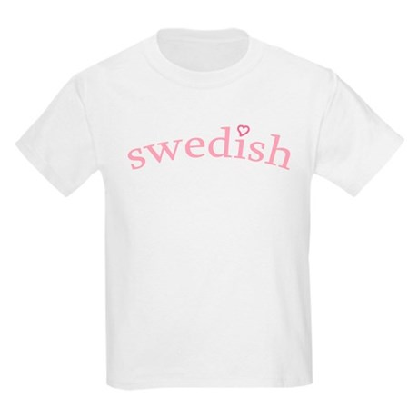 """Swedish with Heart"" Kids Light T-Shirt"