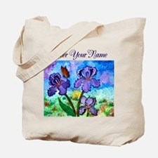 Iris At Sunrise Boarderless Tote Bag