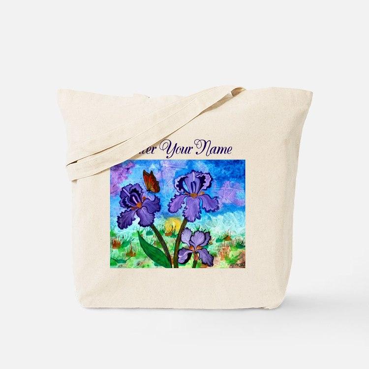 Iris At Sunrise Boarderless Tote Bag