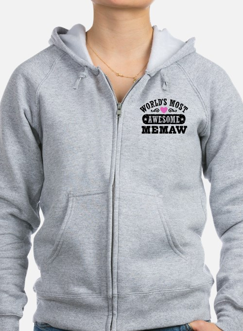 World's Most Awesome Memaw Zip Hoodie