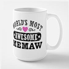 World's Most Awesome Memaw Ceramic Mugs