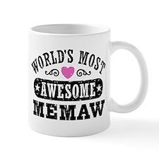 World's Most Awesome Memaw Small Mugs