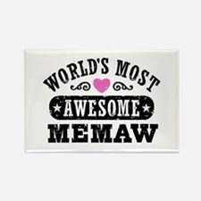 World's Most Awesome Memaw Rectangle Magnet