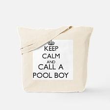 Keep calm and call a Pool Boy Tote Bag