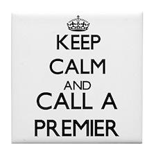Keep calm and call a Premier Tile Coaster