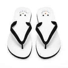 Cute Snowman Face Flip Flops