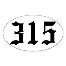 """315"" Oval Decal"