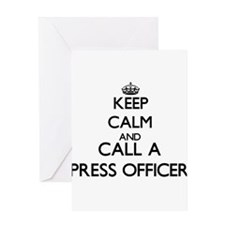 Keep calm and call a Press Officer Greeting Cards