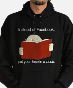 Face in a Book Hoodie