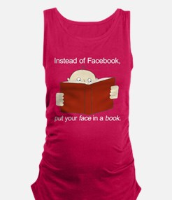 Face in a Book Maternity Tank Top
