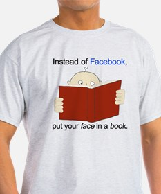 Face in a Book T-Shirt